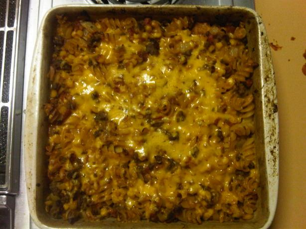 Hamburger Casserole. Photo by katy Gilson