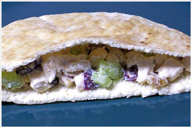 Dried Cherry Toasted Almond Turkey Salad Sandwiches. Photo by Kree