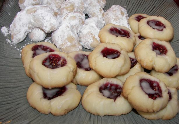 Raspberry Almond Shortbread Thumbprints. Photo by Baby Kato