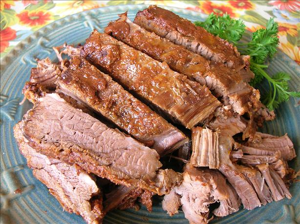 Smoky Barbecue Beef Brisket (Crock Pot). Photo by Pam-I-Am