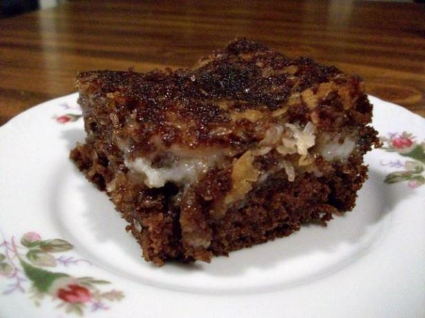 German Chocolate Upside Down Cake. Photo by 2Bleu