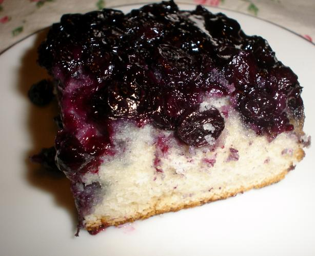 Blueberry Upside-Down Cake. Photo by icynorth