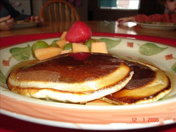 100% Whole Wheat Low Fat Pancakes. Photo by LuckyMomof3