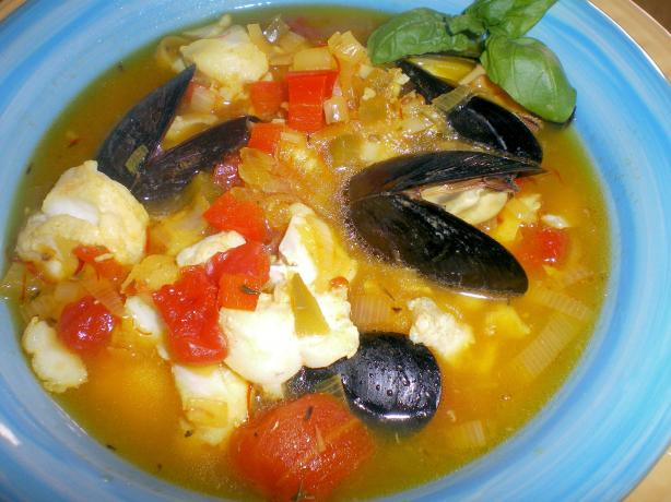 Fish Soup Provencale. Photo by Julie B's Hive