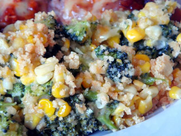 Corn and  Broccoli Bake. Photo by Lori Mama