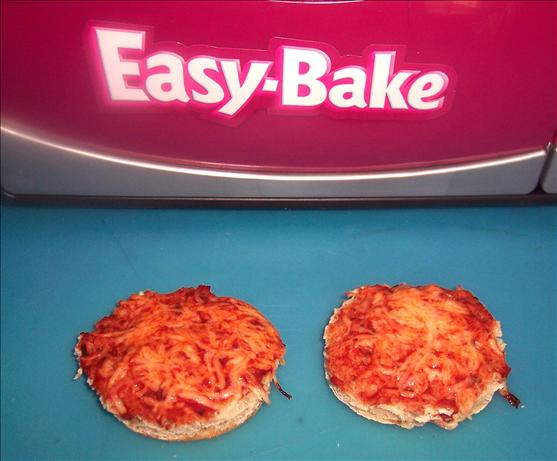 Easy Bake Oven English Muffin Pizza. Photo by looneytunesfan