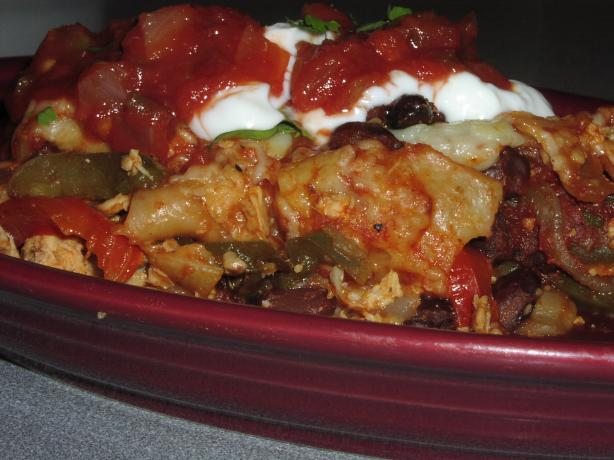 Mexican Chicken Lasagna. Photo by TeresaS