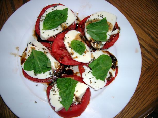 Wisconsin Fresh Mozzarella, Tomato and Basil Salad. Photo by morgainegeiser