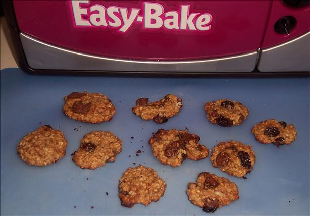 Easy Bake Oven Raisin Chocolate Chip Cookies. Photo by looneytunesfan