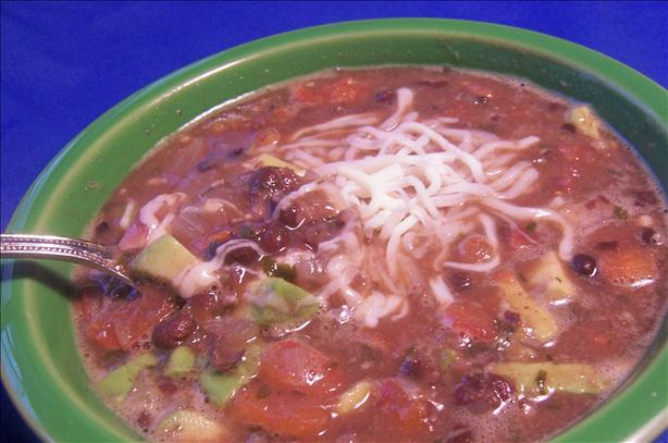 Black Bean and Avocado Soup. Photo by *Parsley*
