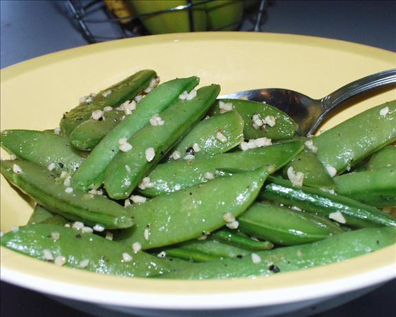 Garlic Snow Peas. Photo by Marsha D.