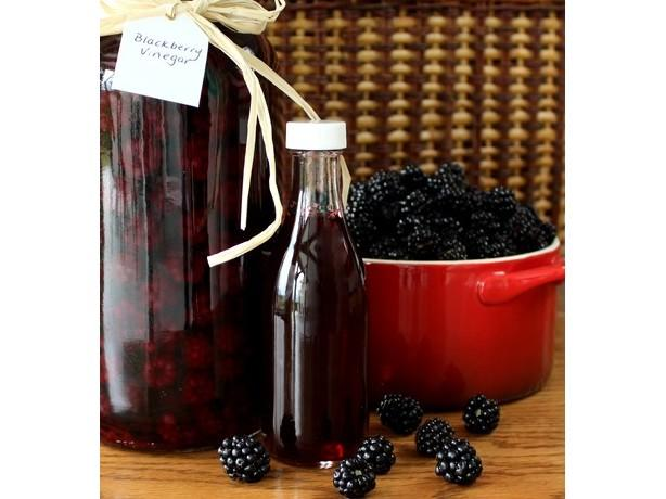 Blackberry Vinegar. Photo by Calee