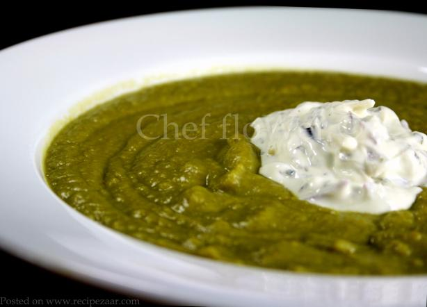 Curried Pea Soup. Photo by Chef floWer