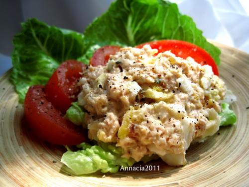 Salmon Egg Salad. Photo by Annacia