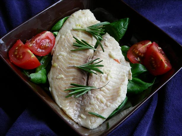 Halibut With Garlic. Photo by kiwidutch