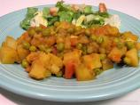 Nepalese Potato, Tomato  and Pea Curry