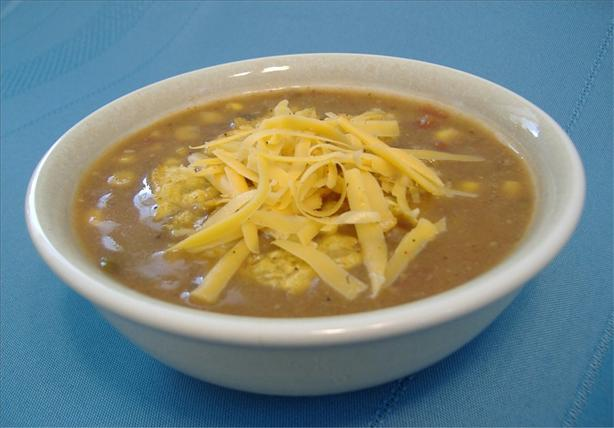 Beef Taco Soup. Photo by Deb's Recipes