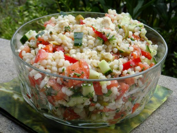 Israeli Couscous Salad. Photo by Lori Mama