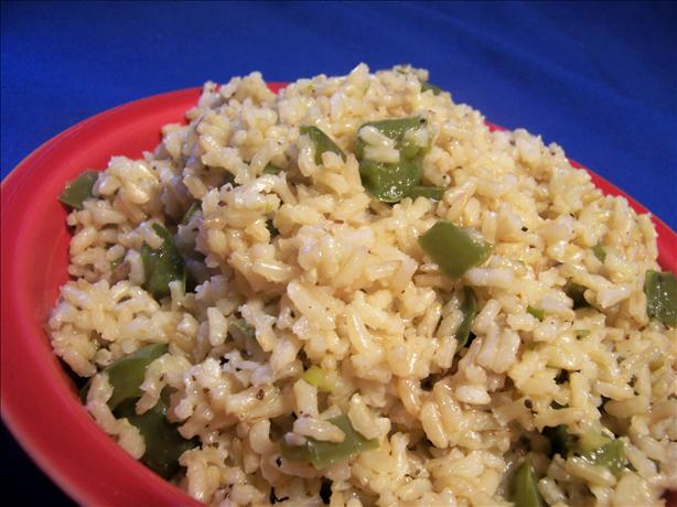 Green Pepper Brown Rice. Photo by *Parsley*