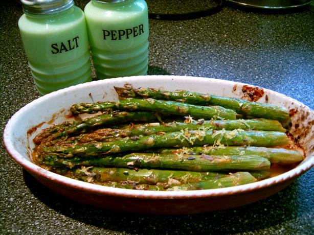 Roasted Asparagus With  Lavender, Lemon  and Garlic. Photo by Mikekey