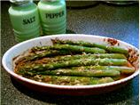Roasted Asparagus With  Lavender, Lemon  and Garlic
