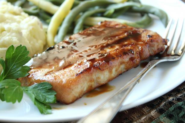 Bourbon-Glazed Pork Chops. Photo by Delicious as it Looks