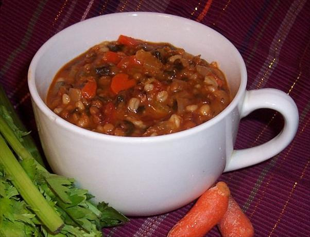 Lentil and Barley Soup. Photo by JeriBinNC