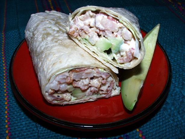 Avocado, Bacon and Shrimp Wraps. Photo by twissis