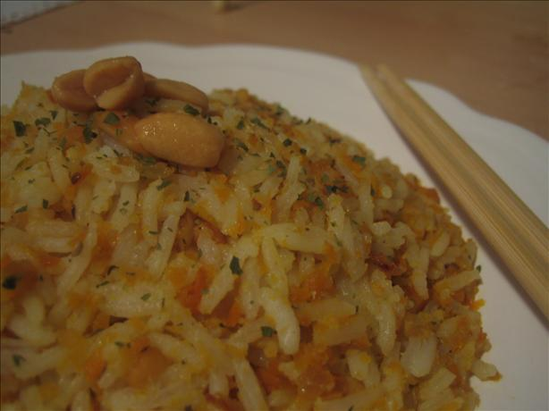 Carrot Rice with Peanuts. Photo by Elodie