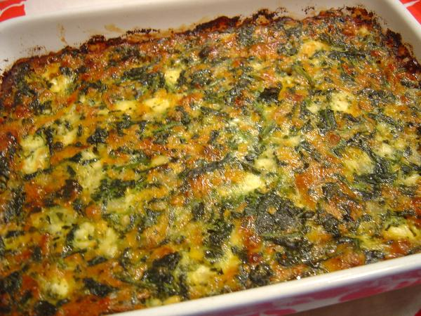 Spinach & Cheese Casserole. Photo by :(