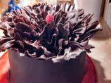 Chocolate Raspberry Ruffle Cake