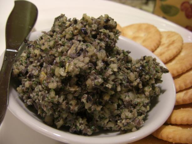 Kalamata Olive Tapenade (Spread or Dip). Photo by puppitypup