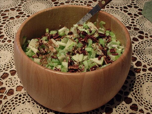 Celery, Apple & Pecan Salad. Photo by Debloves2cook