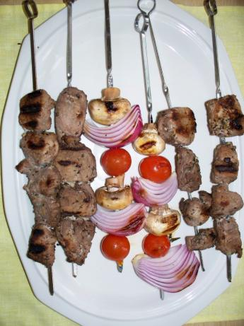 Kittencal's Greek Souvlaki (Grilled Skewered Lamb or Pork). Photo by bullwinkle