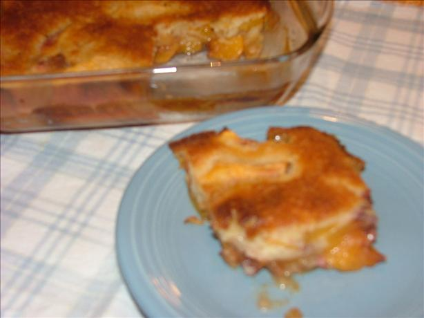 Great Great Grandma's Fresh Peach Cobbler. Photo by Lvs2Cook