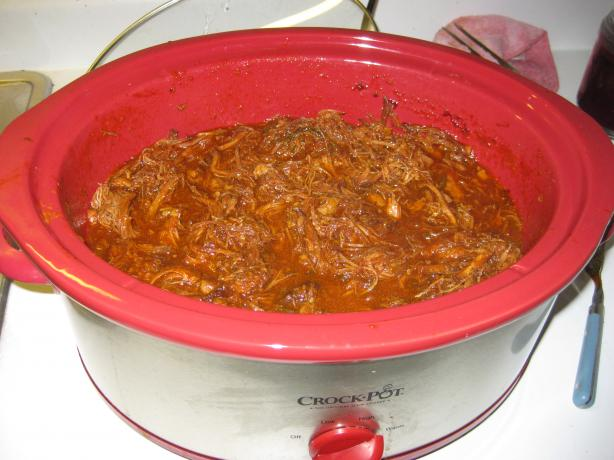 Delicious Crock Pot Barbecued Pulled Pork. Photo by Chef #1224104
