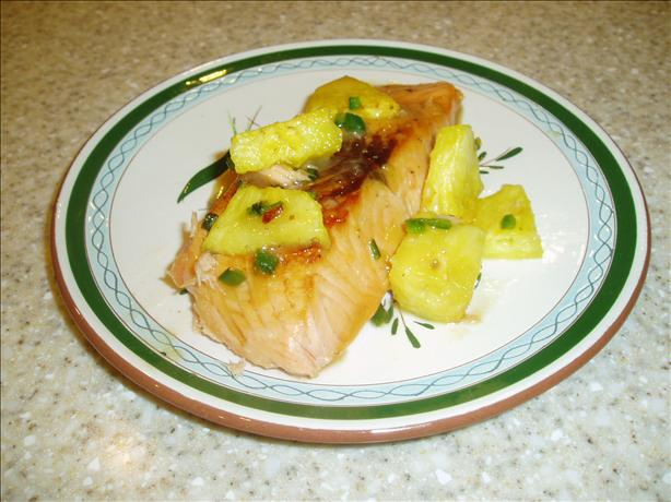 Maple-Glazed Salmon With Pineapple. Photo by Chill