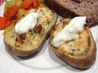 Garlic and Herb Stuffed Baked Potatoes. Recipe by Karen From Colorado