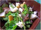 Wilted Arugula , Mushroom, Pear and Blue Cheese Salad