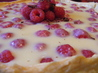 White Chocolate Raspberry Tart. Recipe by LovesSweets
