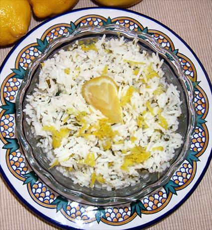 Lemony Rice With Olive Oil Drizzle. Photo by Kathy228