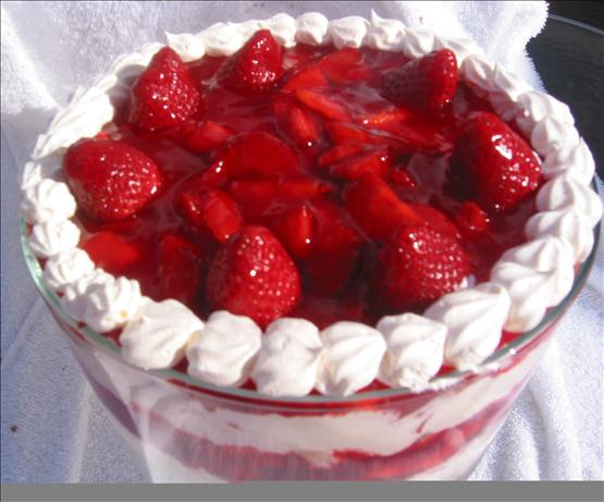 Strawberry Shortcake Trifle. Photo by Chef Dee