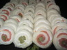 Smoked Salmon Asparagus Pinwheels (Party Sandwiches). Recipe by Kittencalskitchen