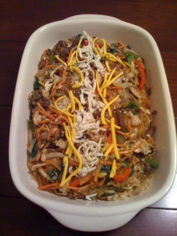 Korean-Style Noodles With Vegetables (Chap Chae). Photo by Kim E Park