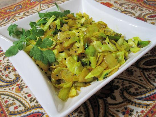 Spiced Indian Cabbage. Photo by Sandi (From CA)