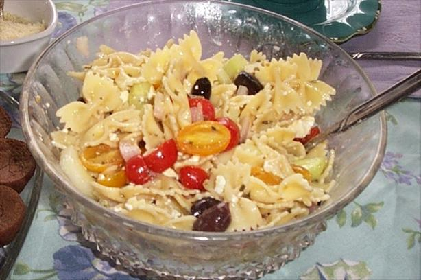 Greek Pasta Salad. Photo by moxie