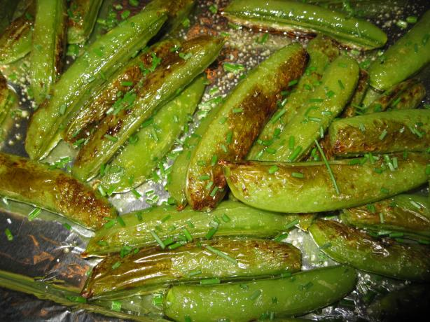 Roasted Sugar Snap Peas. Photo by BarbryT