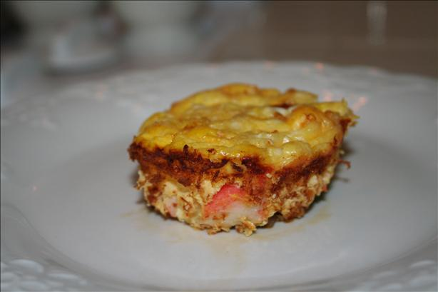 Crustless Crab Quiche. Photo by Momma Jenny