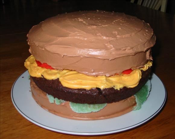 April Fools' Day  Cheeseburger Cake. Photo by Ruby Toozday