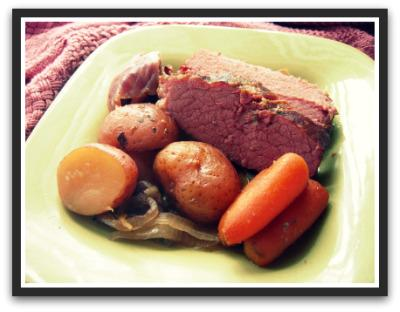 Crock Pot Apple and Brown Sugar Corned Beef. Photo by alicatcooks